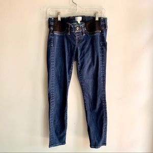 JCREW Maternity Toothpick Jeans Size 28